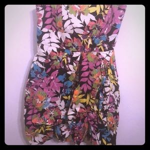 Neon Floral Tube dress